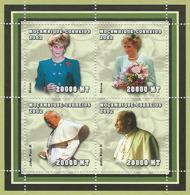 Mozambique 2002 - Lady Dina, Pope John Paull II 4v. Y&T 2060-2063, Scott 1604, Michell 2499-2502. - Mozambique