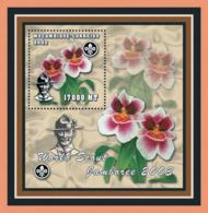 Mozambique 2002 -Scouts- Orchids S/s - Mozambique