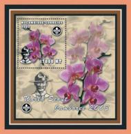 Mozambique 2002 -Scouts- Orchids S/s - Mosambik
