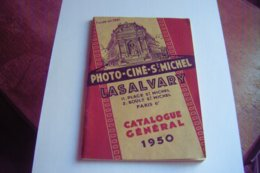 CATALOGUE GENERAL 1950 LASALVARY SAINT MICHEL PHOTOGRAPHIE ET CINEMA 64 PAGES TOUT LE MATERIEL PHOTO ET CINE - Photographie