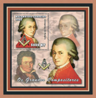 Mozambique 2002 - Liudwig Van Beethoven S/s - Mosambik
