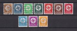 Deutsches Reich - Dienstmarken - 1936 - Michel Nr. 132/138 + 140 + 142/43 - Deutschland