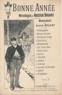 CHANSON Monologue - Aristide BRUANT - Bonne Année - Spartiti