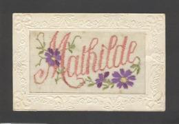 Themes Div-ref CC143 -brodées - Carte Brodée - Prenoms - Prenom Mathilde - - Prénoms
