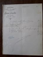 L24/33 Ancienne Facture. Charolles. Hotel Trois Faisans. Guittet Girardon - France