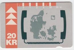 Denmark Phonecard - Superb Fine Used Phonecard 1992 Map - Denemarken