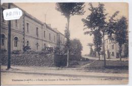 TINTENIAC- L ECOLE DES GARCONS ET ROUTE DE ST-DOMINEUC - France