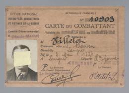 Carte Du Combattant - Dokumente
