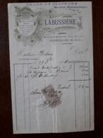 L24/34 Ancienne Facture. Charolles. Salon De Coiffure. G. Labussiere 1904 - France