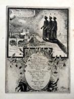 Grand Menu Illustré Banquet Architecte 1910 Au Palais D'orsay - Menus