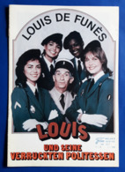 """LOUIS DE FUNES / MICHEL GALABRU Im Film """"Louis Und Seine Verrückten Politessen"""" # NFK-Filmprogramm Von 1983 # [19-1193] - Zeitschriften"""