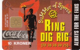 Denmark  Phonecard- Danmont Coca Cola - Mint Wrapped - Denemarken