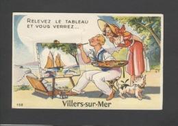 Themes Div-ref CC137-carte Systeme Depliant Ville Multivues Complet- Villers Sur Mer - Peintre -peinture - Edition Gaby - Villers Sur Mer