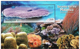 Malaysia 2013 MS MNH Living Corals - Vie Marine