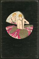 """Lettre. Illustrations à La Main. """"Elégante Art Déco"""", CP Aquarelle Et Plume, Neuve. - TB - Cartes Postales"""