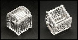 Distributeur En Cristal, 40x40x50mm. - TB - Boites A Timbres