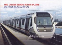 Malaysia 2017 MS MNH Transport Train Railway - Trains