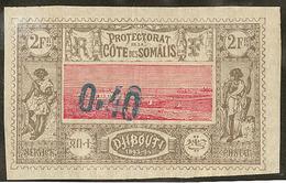 (*) Double Surcharge. No 25a, Pli De Fabrication. - TB. - R - French Somali Coast (1894-1967)