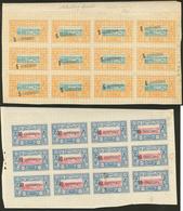 * Nos 28, 29, En Feuilles De Douze, Des Ex **, Surcharge Oblique Sur Le N°28. - TB - French Somali Coast (1894-1967)