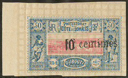 * Double Surcharge. No 29a, Cdf. - TB (N°et Cote Maury) - French Somali Coast (1894-1967)