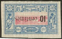 * Surcharge Renversée. No 29a. - TB - French Somali Coast (1894-1967)