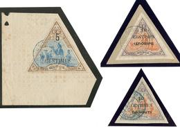 Nos 32, 32a (DJIBOUTI Renversé) Sur Fragment, 35 Cdf. - TB - French Somali Coast (1894-1967)