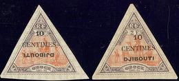 ** Variétés. Nos 32a, 32c *. - TB - French Somali Coast (1894-1967)