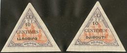* Variétés. Nos 32a, 32c (léger Pli). - TB - French Somali Coast (1894-1967)