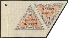 "* Gros ""0"". No 32c En Paire Bdf Avec 32 **. - TB - French Somali Coast (1894-1967)"