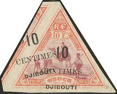 (*) Double Surcharge Dont Une Oblique. No 33a. - TB - French Somali Coast (1894-1967)