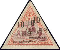 * Triple Surcharge. No 33c. - TB. - R - French Somali Coast (1894-1967)