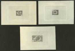 (*) Emission 1902. 3 épreuves, En Noir Sans Faciale, Sur Cuvette, Sur Papier Transparent, Des 3 Types. - TB - French Somali Coast (1894-1967)