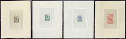 (*) Emission 1902. 4 épreuves, Trois Méhariste Et Une Guerriers, 110x135mm, Sur Cuvette Sur Papier Mince. - TB - French Somali Coast (1894-1967)