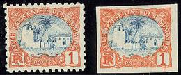 ** Erreur De Couleur. No 37, Bleu Et Orange, Dentelé Et Non Dentelé. - TB - French Somali Coast (1894-1967)