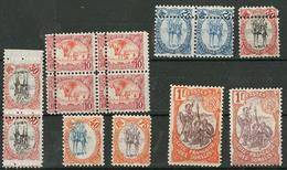 * Variétés. Nos 41 Bloc De Quatre, 45 Paire, 46 (3 Dont Paire Verticale), Avec Piquages Divers, 47 Centre Déplacé, 49 Et - French Somali Coast (1894-1967)