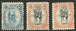 * Variétés. Nos 44a **, 63, 63a. - TB - French Somali Coast (1894-1967)