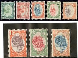 * Centre Renversé. Nos 41, 42, 47 à 52. - TB - French Somali Coast (1894-1967)
