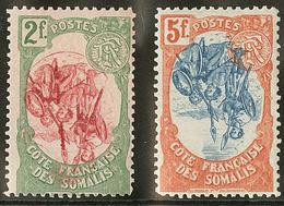 * Centre Renversé. Nos 51 **, 52. - TB - Côte Française Des Somalis (1894-1967)