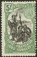 ** No 66b, Vert Et Noir. - TB - Côte Française Des Somalis (1894-1967)