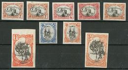 * Centre Renversé. Non Dentelé. Nos 54(2), 55, 57, 58, 60, 61, 64, 66. - TB - French Somali Coast (1894-1967)
