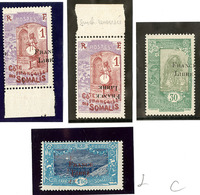 ** Variétés. Nos 193 (2), 198, 202 *. - TB - Côte Française Des Somalis (1894-1967)