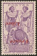 ** Surcharge Renversée. No 218a. - TB - Côte Française Des Somalis (1894-1967)