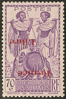 ** Surcharge Renversée. No 218a. - TB - French Somali Coast (1894-1967)