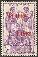 * Double Surcharge. No 218b. - TB - French Somali Coast (1894-1967)