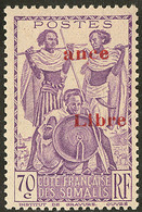 "* Surcharge ""ance/Libre"". No 218c. - TB - French Somali Coast (1894-1967)"