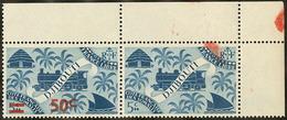 ** Tenant à Non Surchargé. No 254, En Paire Cdf. - TB - French Somali Coast (1894-1967)