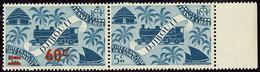 ** Tenant à Non Surchargé. No 255, En Paire Bdf. - TB (cote Maury) - Côte Française Des Somalis (1894-1967)