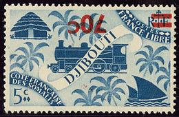 * Surcharge Renversée. No 256a. - TB - Côte Française Des Somalis (1894-1967)
