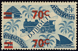 ** Double Surcharge. No 256b. - TB - French Somali Coast (1894-1967)