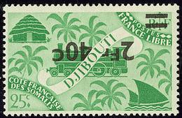 * Surcharge Renversée. No 258a. - TB - Côte Française Des Somalis (1894-1967)